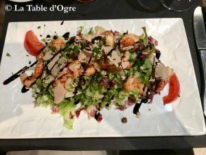 La Table Saint-Jean Salade écrevisses foie gras