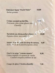 L'ami Fritz Carte desserts