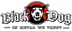 Logo Black Dog In Metal We Trust - Blanc